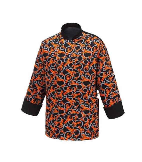 Moderna chaqueta chef estampada mod. Black Lobster