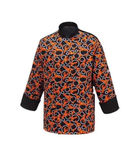 Compra chaqueta chef estampada mod black lobster ropa - Ropa de cocina ...