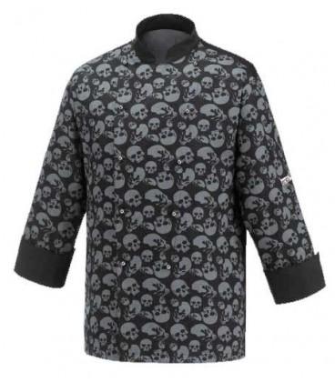 Compra chaqueta de cocina estampado de calaveras ropa de - Ropa de cocina ...