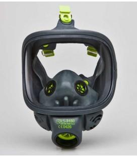 Máscara facial completa con visor de cristal