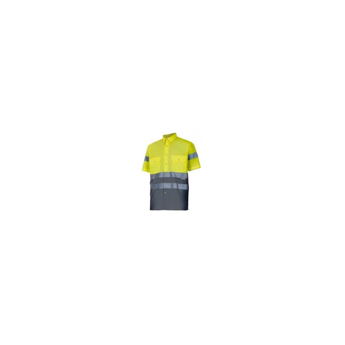 Camisa bicolor manga corta