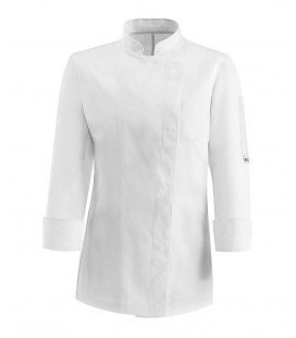 Chaqueta cocinera manga larga white easy M/L