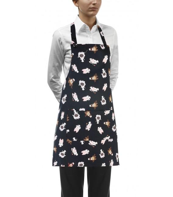 Delantal cocina peto modelo puppies