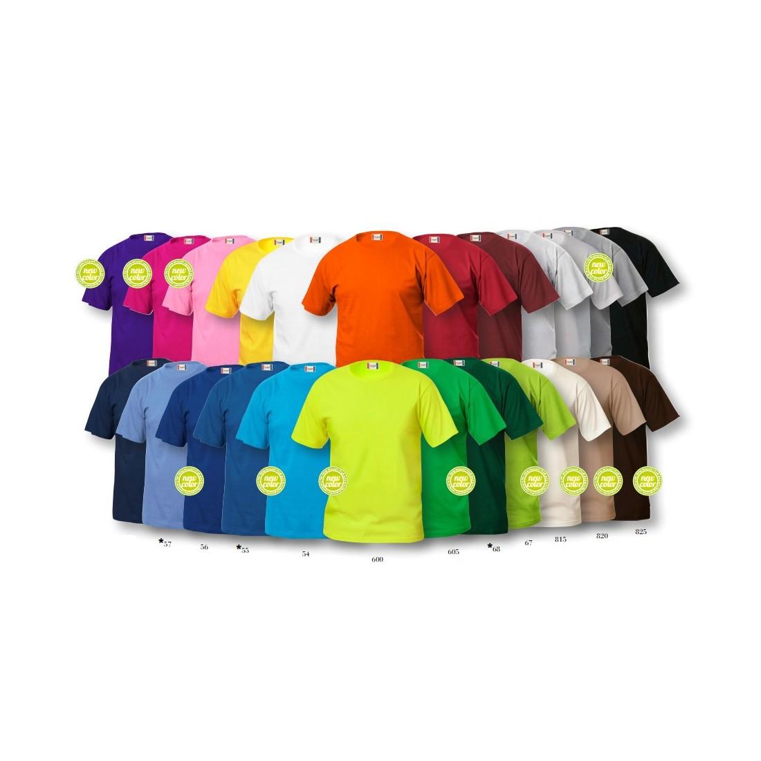 Camiseta básica manga corta colores