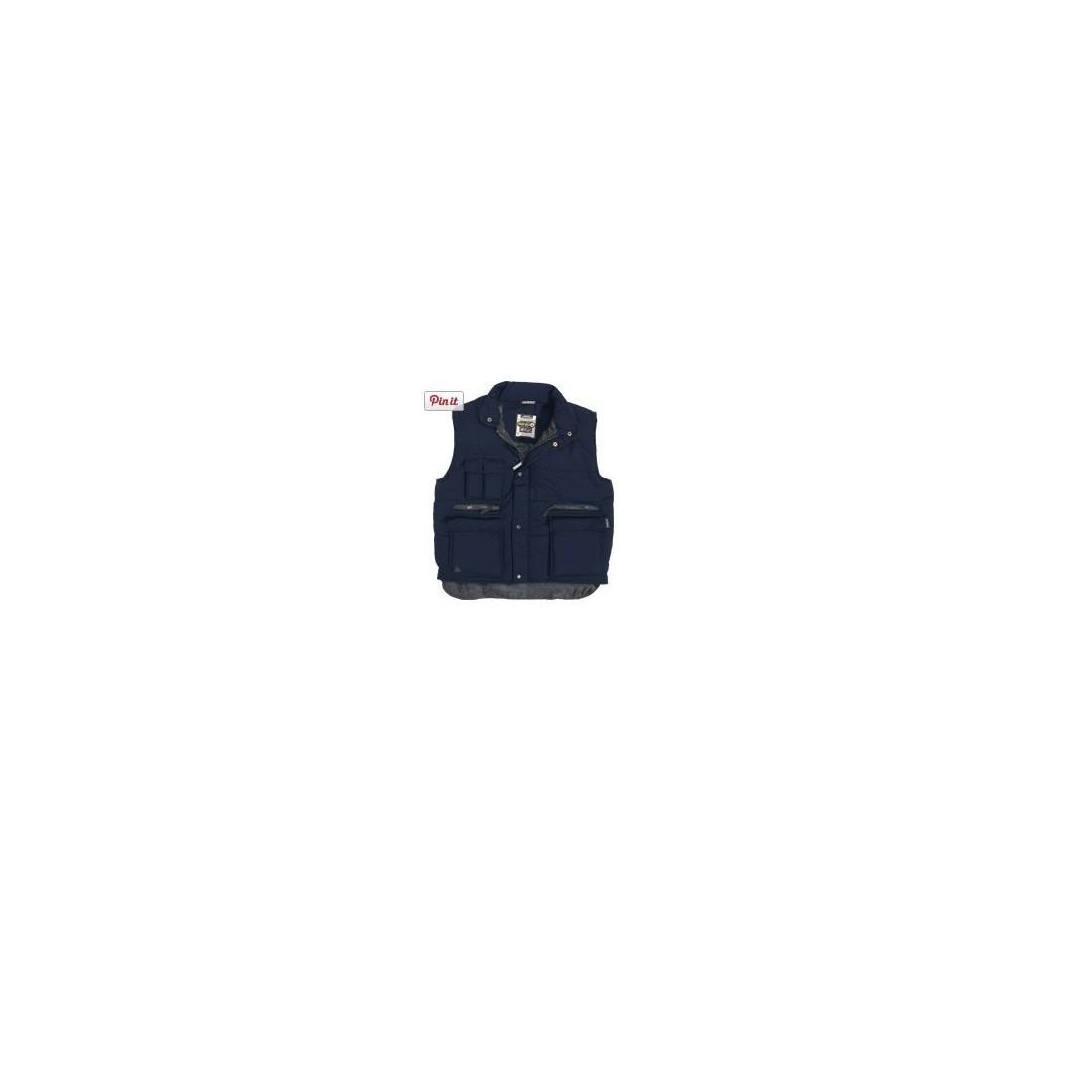 Chaleco multibolsillo de poliester SIERRA azul marino