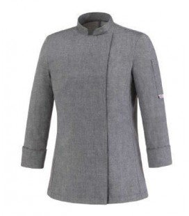 Chaqueta/Casaca de Cocinera NEW GREY MIX