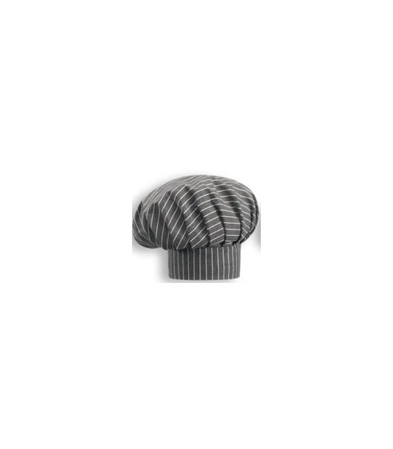 Gorro Chef new grey stripe