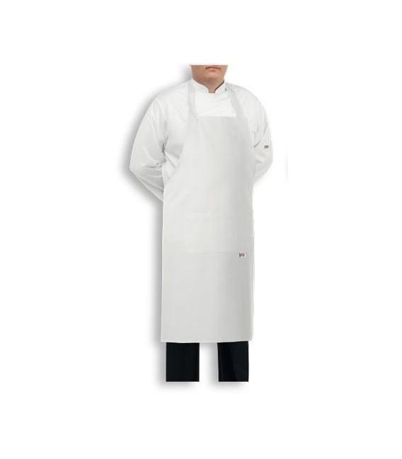 Delantal de cocina extra grande BIG blanco