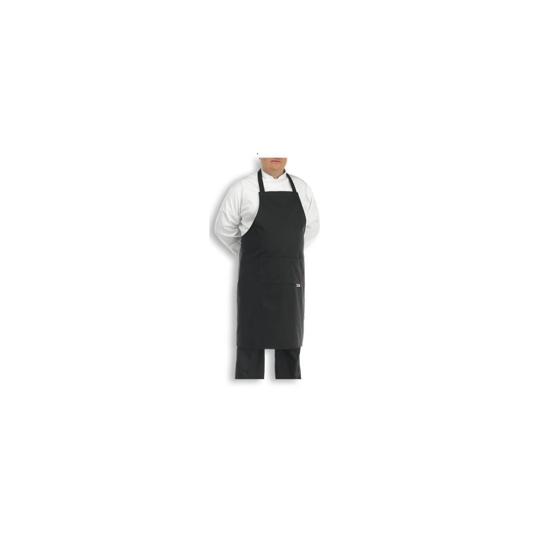 Delantal de cocina extra grande BIG negro 1904002C