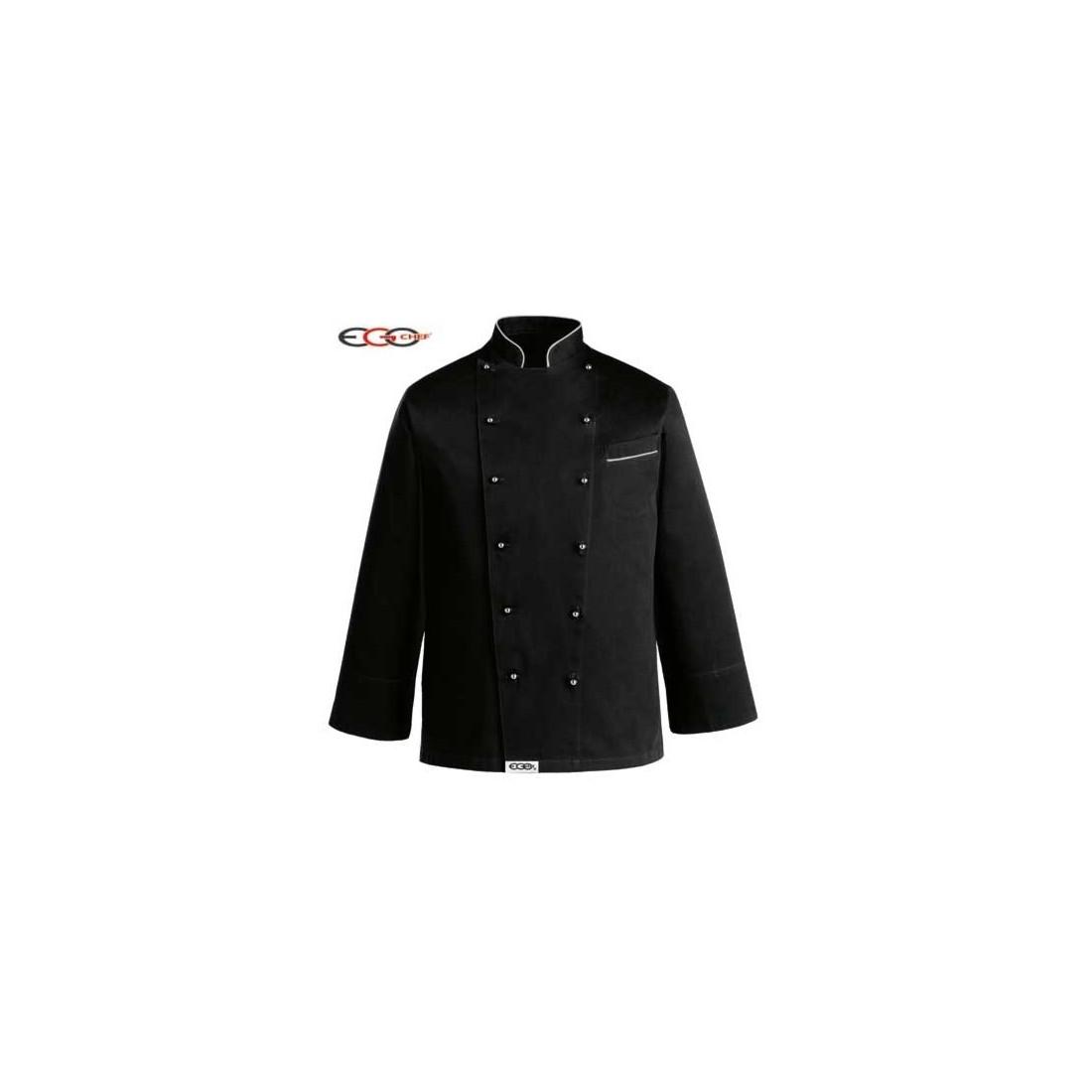 Chaqueta cocinero negra tallas grandes