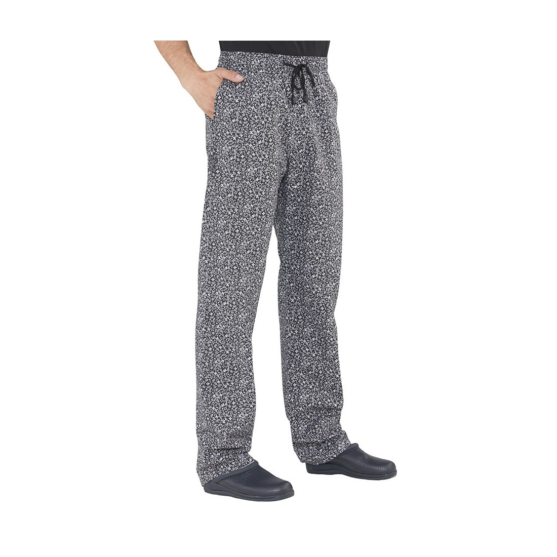 Pantalón con goma estampado