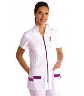 Chaqueta de uniforme sanitario lila