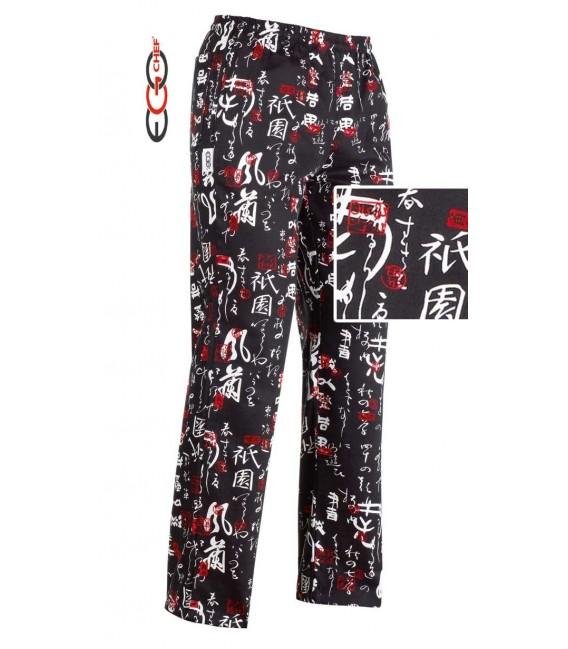 Pantalón cocinero estampado japones