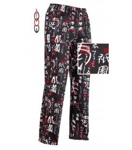 Pantalón cocinero estampado japones 3502119A