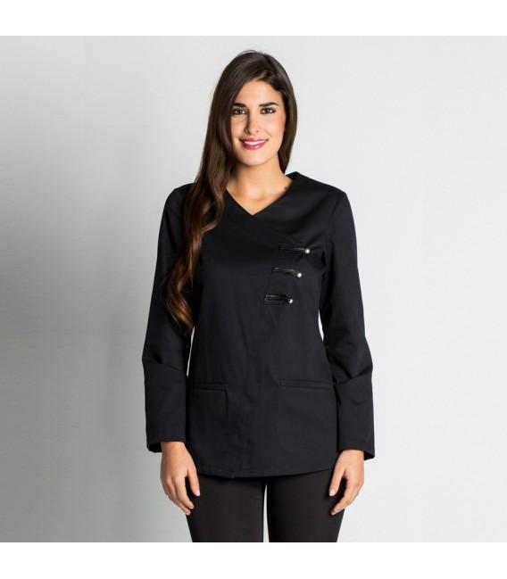Chaqueta estetica negra manga larga mod. 8679-777