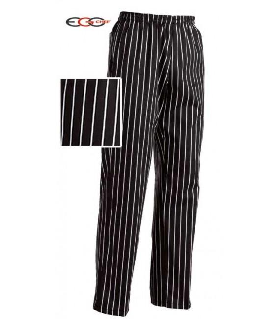 Pantalón cocina rallado ancho
