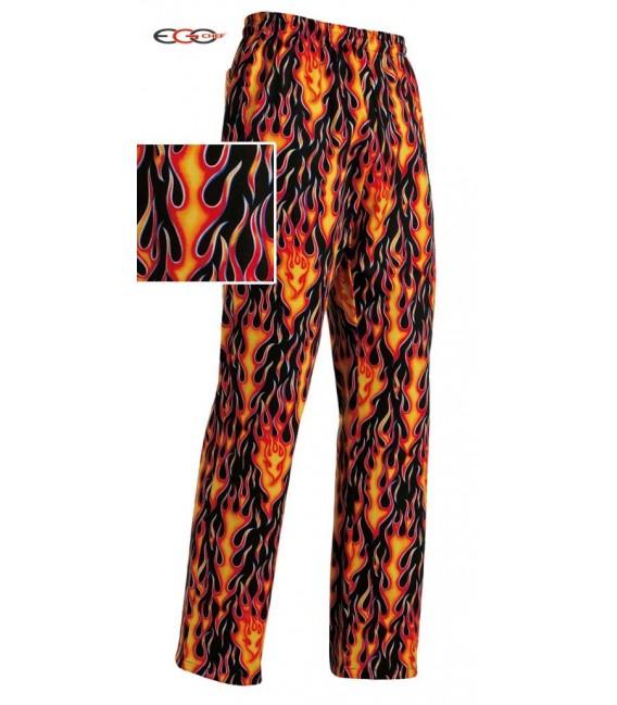 Pantalón cocina fuego
