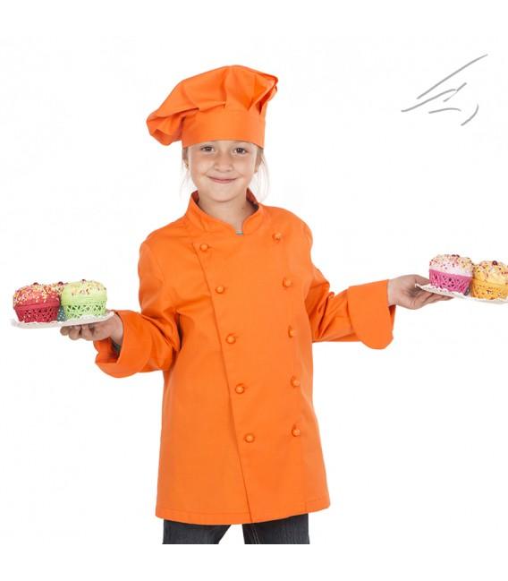 Casaca de cocina infantil para niña 4 colores