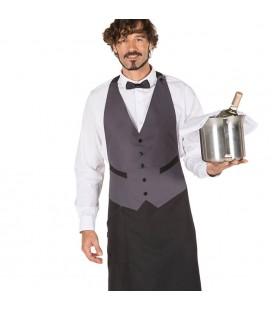 Delantal de camarero de sala con peto