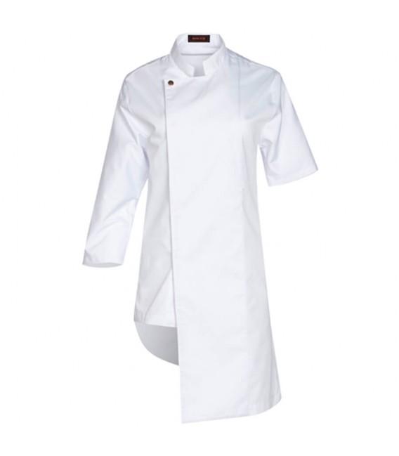 Chaqueta de cocina asimétrica unisex