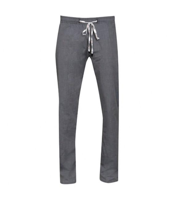 Pantalón de cocina goma tipo slim fit