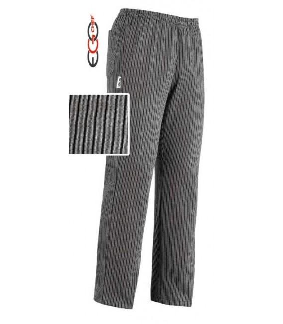 Pantalón cocinero rallado gris