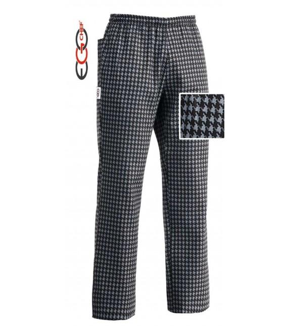 Pantalón cocina cuadro gris/negro