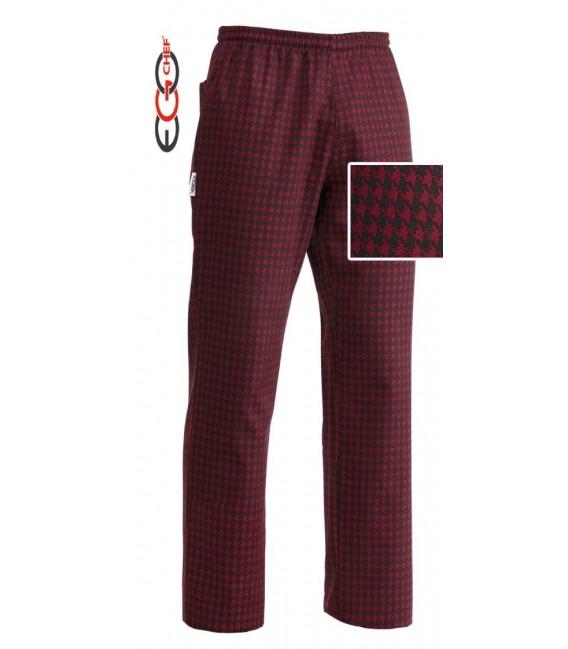Pantalón cocina cuadro rojo/negro