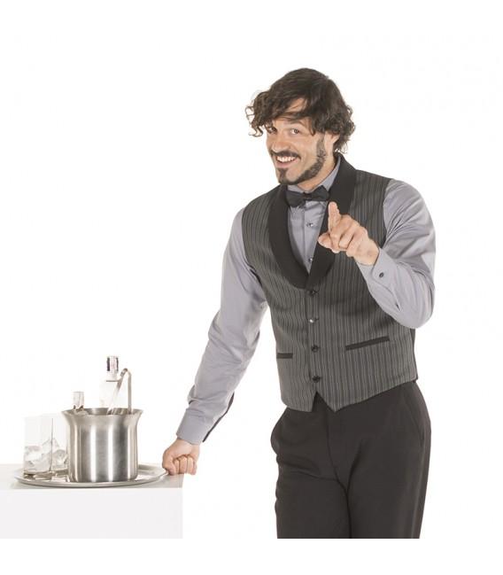 Chaleco camarero rayas hombre
