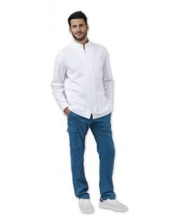 Casaca sanitaria hombre manga larga modelo JULIAN