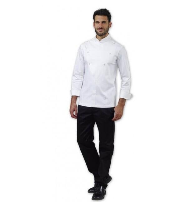 Casaca cocinero blanca modelo LANNY