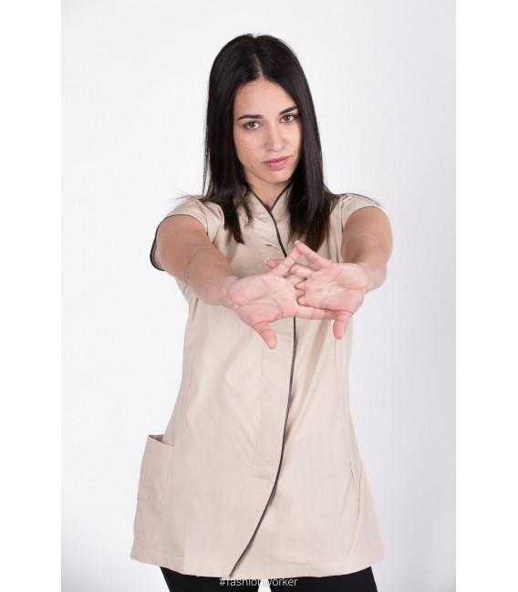 Casaca Peluquería/estética SCARLETT manga corta