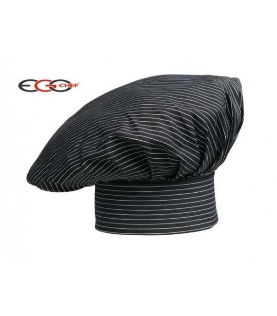Gorro cocinero con rallas color negro