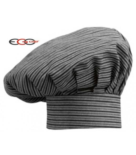 Gorro cocina gris con rallas negras