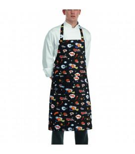 Delantal con peto para cocinero modelo Pop Art