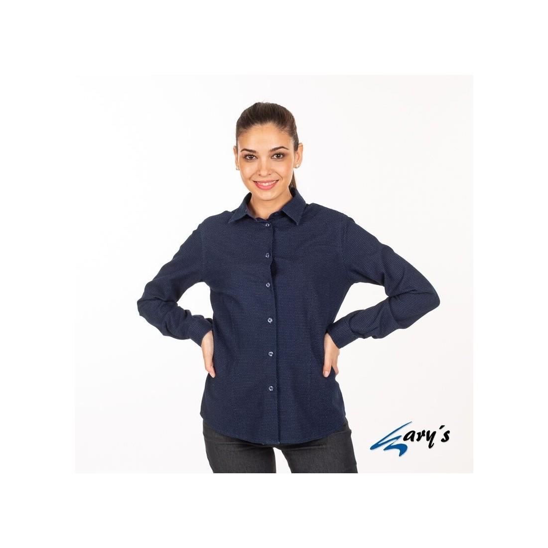 Camisa de trabajo color índigo modelo Fosca