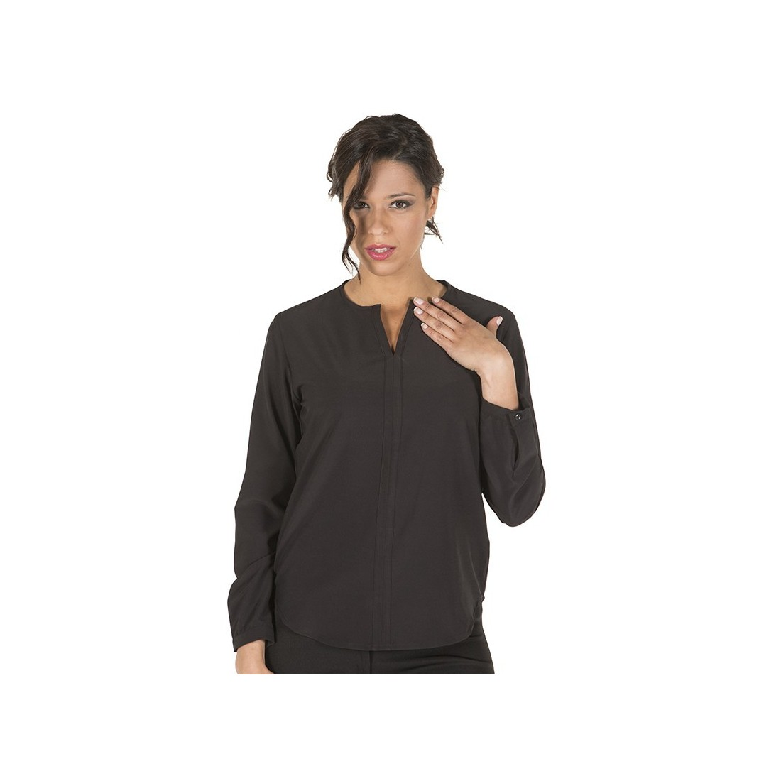 Blusa cerrada manga larga para mujer