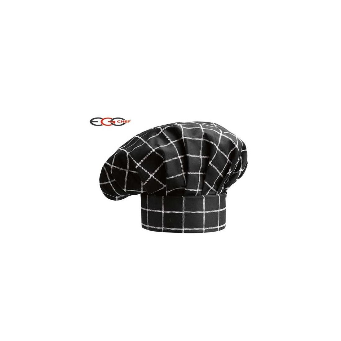 Gorro cocinero de cuadros anchos