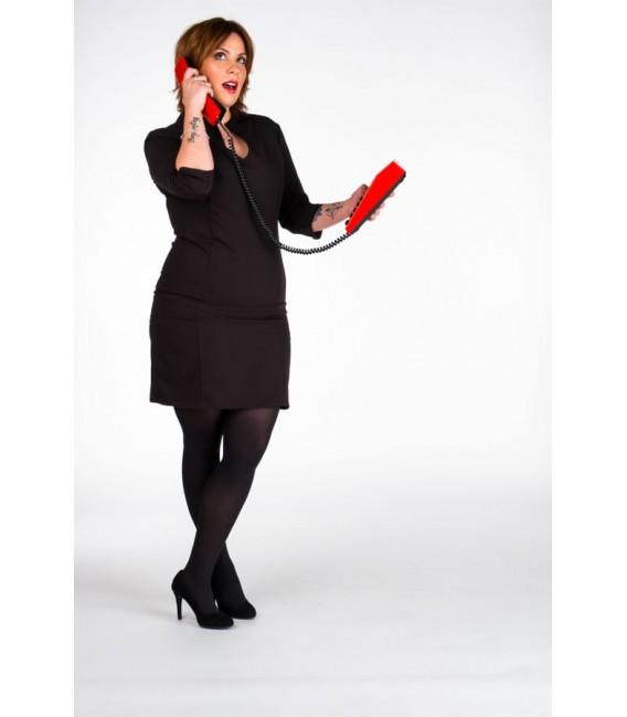 Vestido recepcionista negro