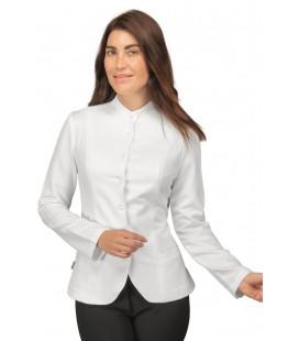 Casaca blanca multifuncional de manga larga