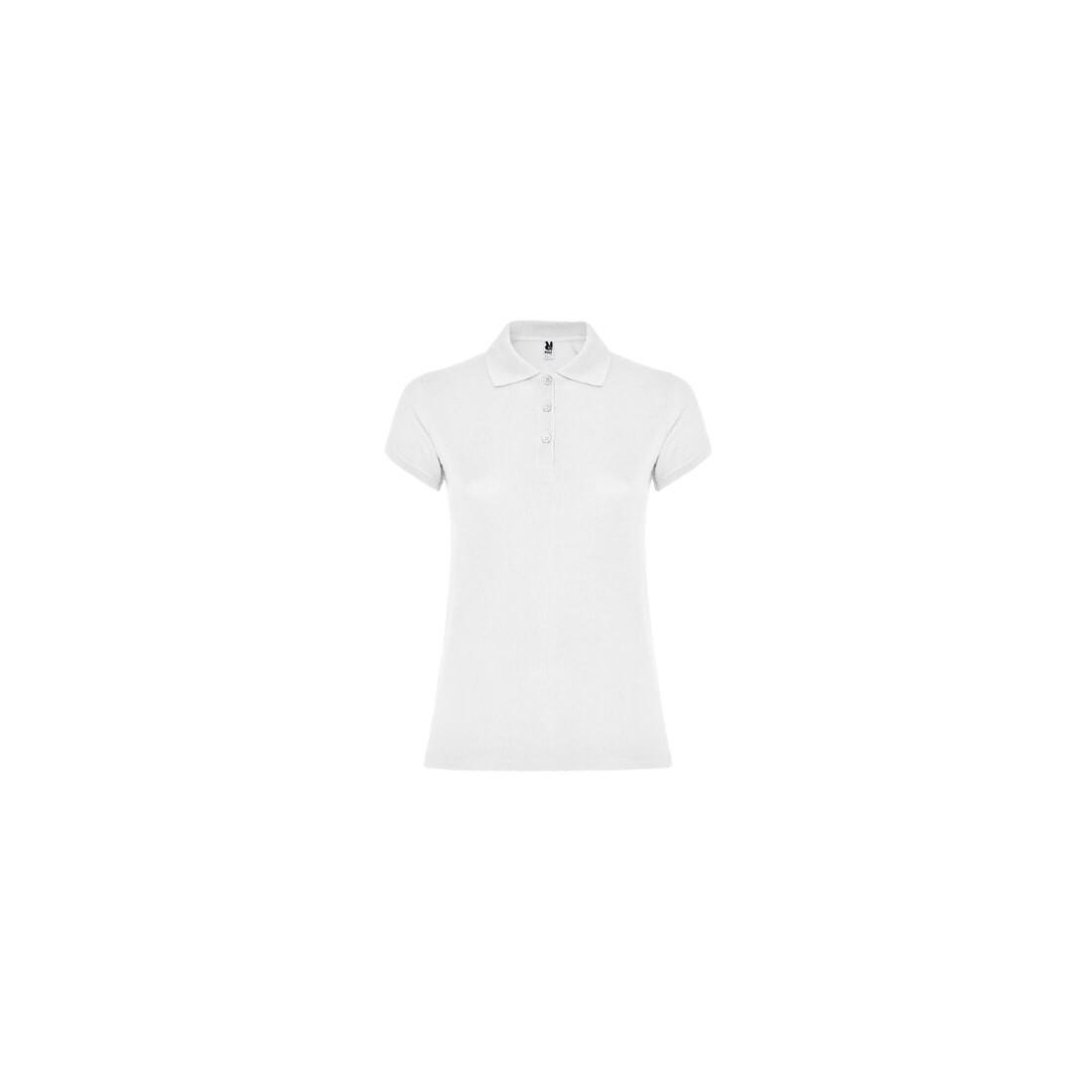 Polo para mujer de manga corta y color blanco