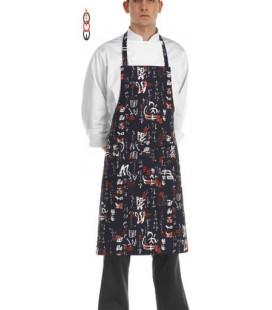 Mandil cocina peto modelo Jap