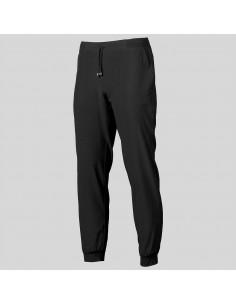 Pantalón jogger unisex microfibra negro
