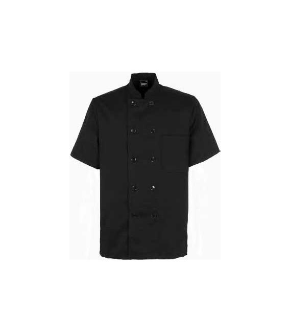 Chaqueta cocinero negra modelo 9604