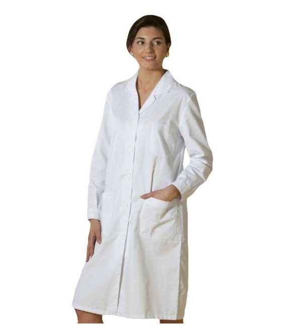 Bata sanitaria manga larga para mujer mod. 301
