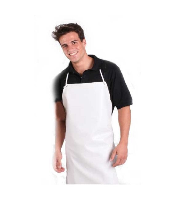Delantal cocina PVC blanco ref. 124